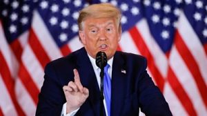 US election: Trump alleges 'fraud' in speech without offering evidence